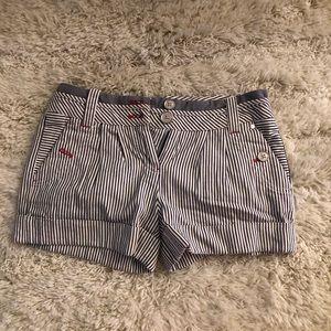 Armani exchange striped shorts